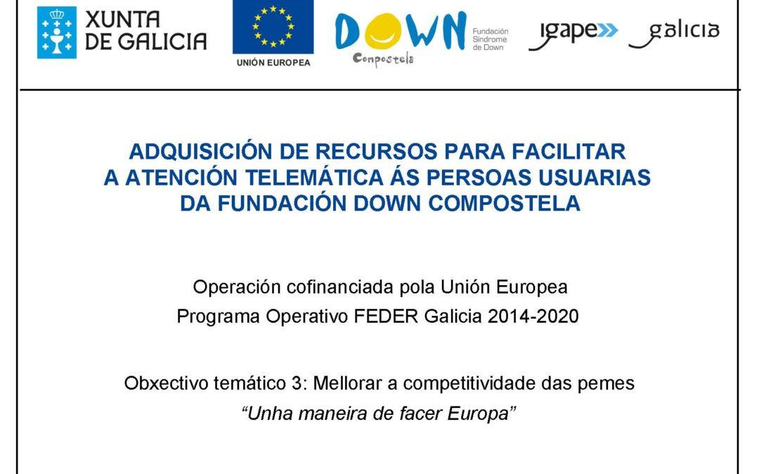 O Igape financia recursos tecnolóxicos para facilitar a atención telemática ás persoas usuarias de Down Compostela