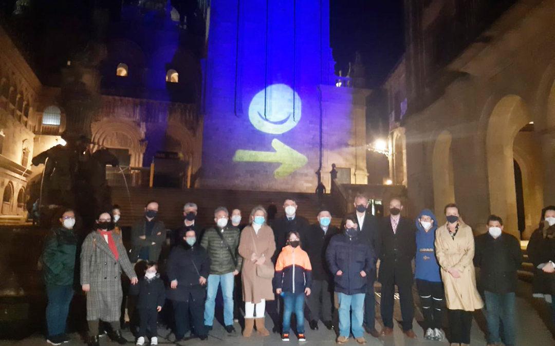 A Xunta apoia o Día Mundial iluminando coa cariña Down os monumentos máis emblemáticos de Galicia