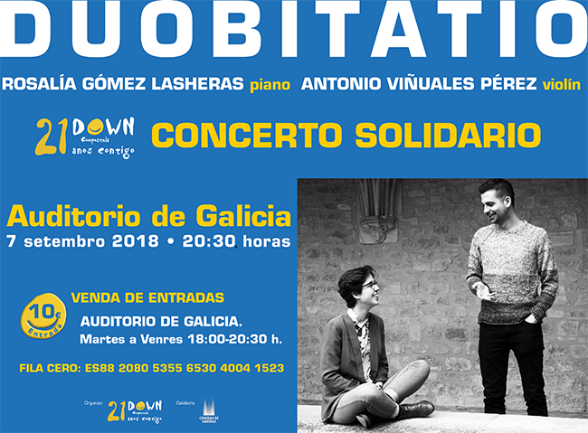 Concierto solidario de Rosalía Gómez Lasheras y Antonio Viñuales a favor de Down Compostela