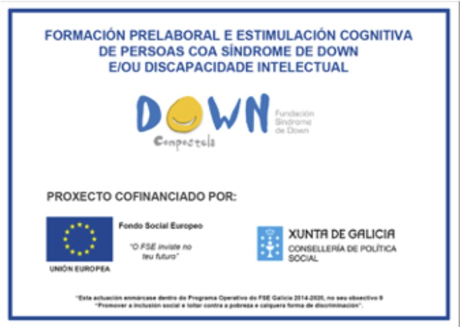 Programa de formación prelaboral e estimulación cognitiva financiado polo FSE e Política Social
