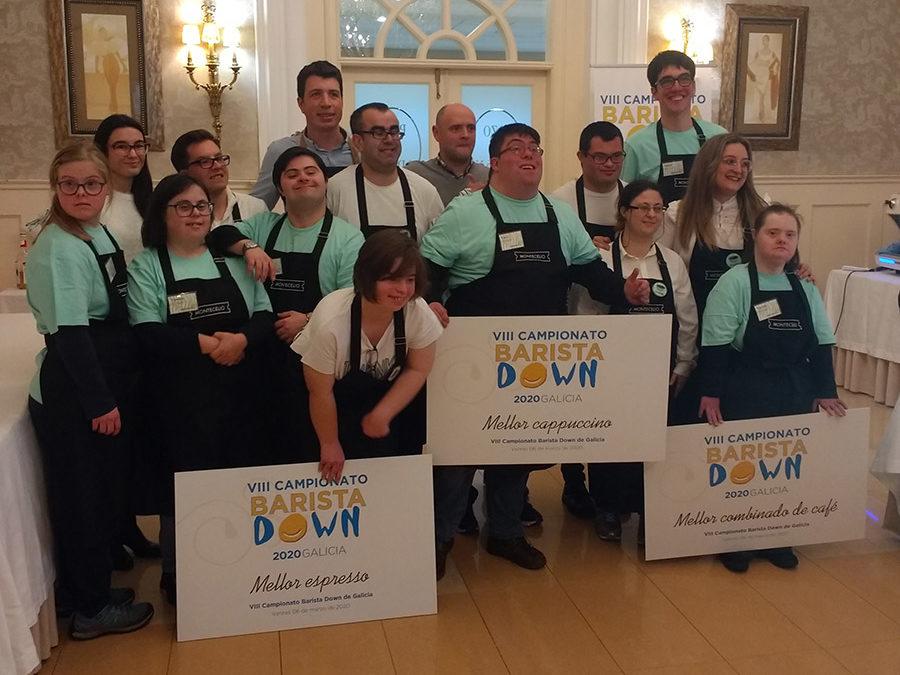 El equipo Iku de Down Compostela, premio al mejor capuccino en el VIII Campeonato de Baristas Down Galicia